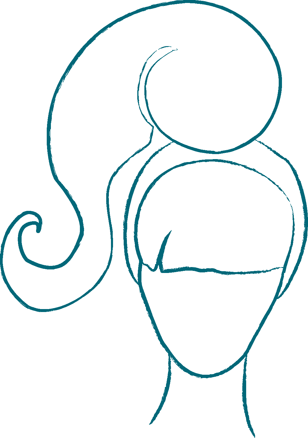dessin du portrait de lucille hoffman