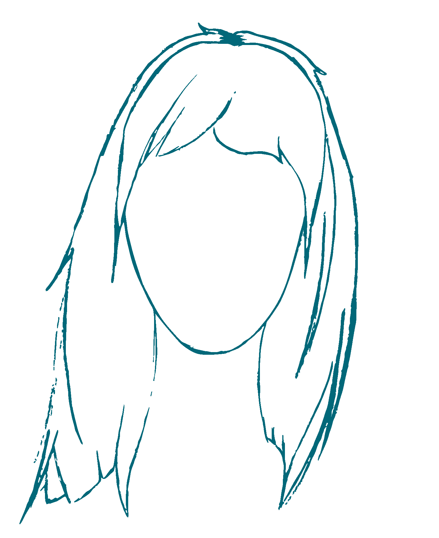 dessin du portrait de muriel carpentier