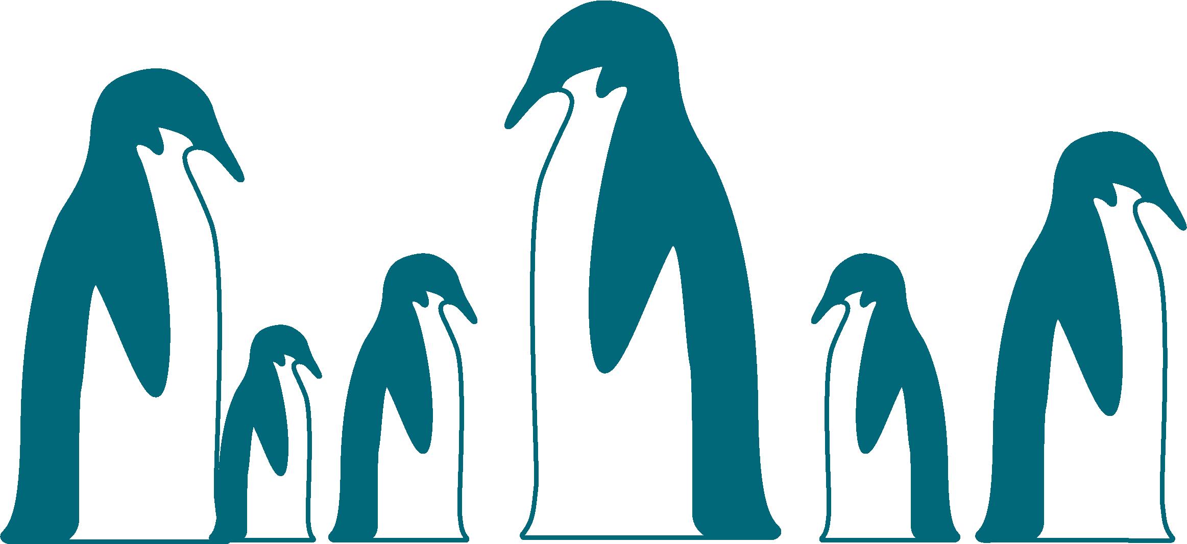 dessin de plusieurs pingouins