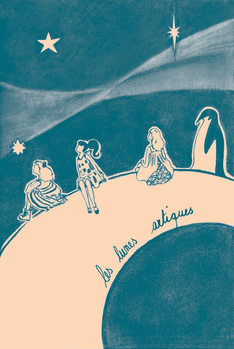 dessin des personnages des lunes artiques
